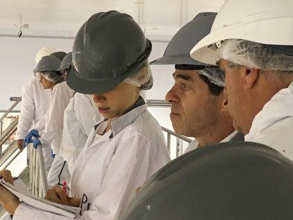 Ernesto Talvi recorre las instalaciones de BPU Meat